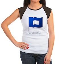 bluepeter[9x12_print] Women's Cap Sleeve T-Shirt