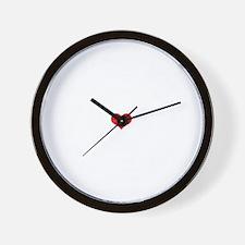 Dharma Heart -dk Wall Clock