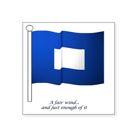 "bluepeter[10x10_apparel] Square Sticker 3"" x 3"""