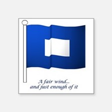"bluepeter[6x6_pocket] Square Sticker 3"" x 3"""