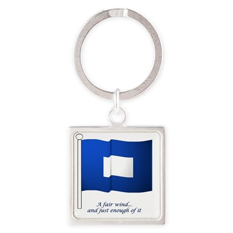 bluepeter[3x3_bear] Square Keychain