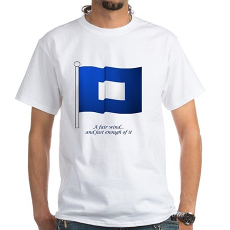 bluepeter[14x10_print] White T-Shirt