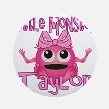 taylor-g-monster Round Ornament