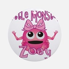 zoey-g-monster Round Ornament