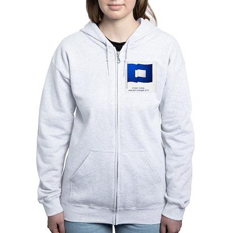 bluepeter[6x4_pcard] Women's Zip Hoodie