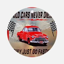 Old Cars Never Die! ( 10x 8) Mouse  Round Ornament