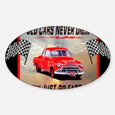 Old Cars Never Die! ( 10x 8) Mouse  Decal
