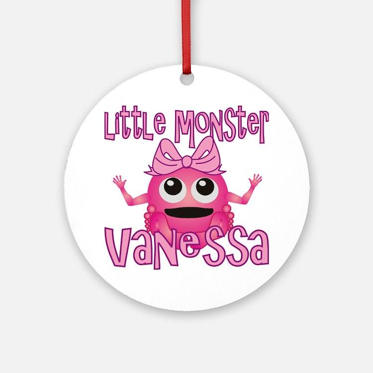 vanessa-g-monster Round Ornament