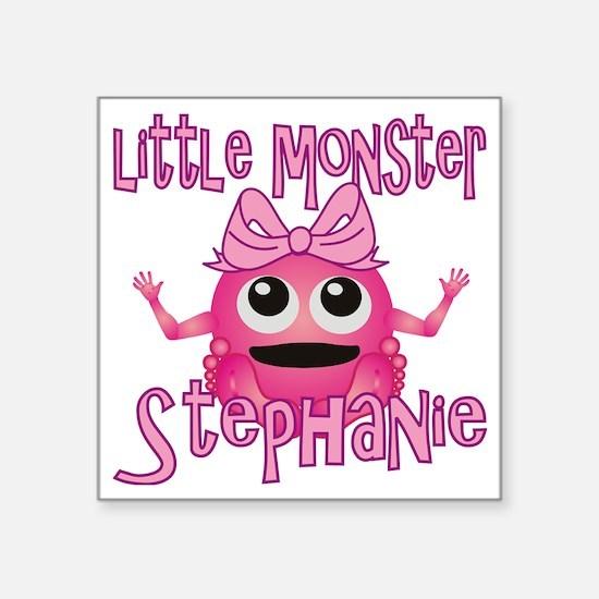 "stephanie-g-monster Square Sticker 3"" x 3"""