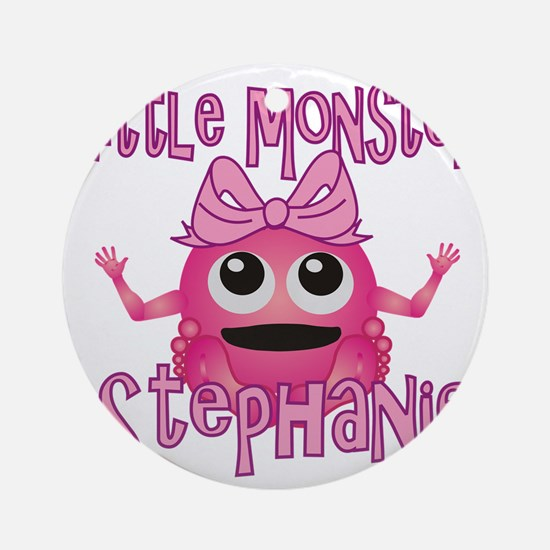 stephanie-g-monster Round Ornament