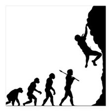 "Rock Climbing 2 Square Car Magnet 3"" x 3"""