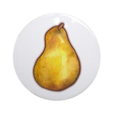 Nice Pear Ornament (Round)