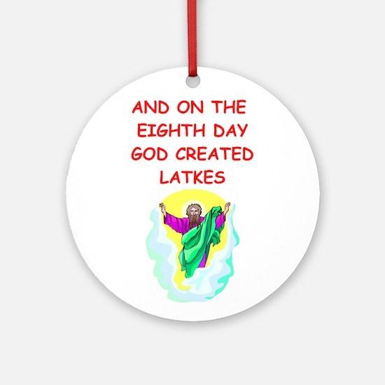 LATKES.png Ornament (Round)