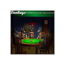 "T0038A-DonkeysBestTable-200 Square Sticker 3"" x 3"""