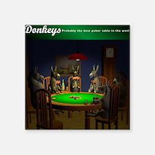 "T0038B-DonkeysBestTable-200 Square Sticker 3"" x 3"""