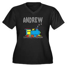andrew-train Women's Plus Size Dark V-Neck T-Shirt
