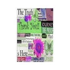 thanks5x8cirgreen Rectangle Magnet