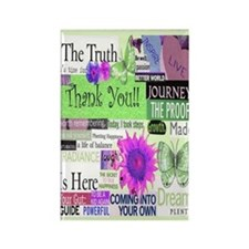 thanks5x7circgreen Rectangle Magnet