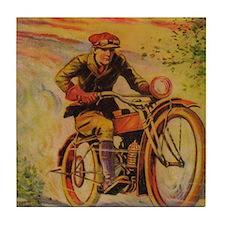 TSmotorcycle Tile Coaster