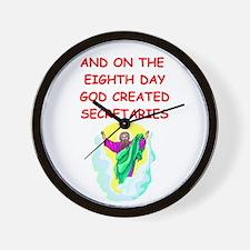 SECRETARIES.png Wall Clock