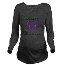 Lupus Awareness Long Sleeve Maternity T-Shirt