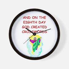CROSSWORDS.png Wall Clock