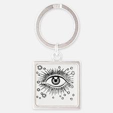Eye Eyeball Square Keychain