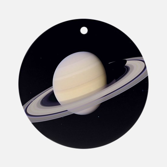 Saturn Planet Christmas Tree Ornament (Round)
