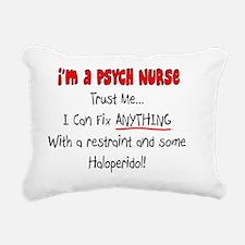 Psych Nurse Rectangular Canvas Pillow