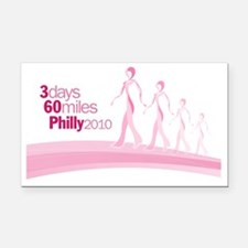 BreastCancerRibbonWalkersPhil Rectangle Car Magnet