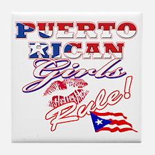 puerto rican girls rule Tile Coaster