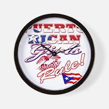 puerto rican girls rule Wall Clock