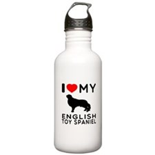 I Love My English Toy Spaniel Water Bottle