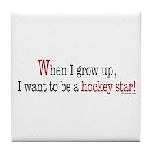 ... a hockey star Tile Coaster