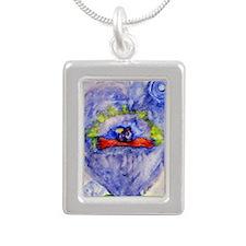 magic carpet2 Silver Portrait Necklace