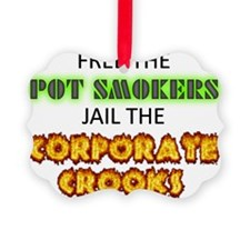 Free The Pot Smokers Jail The Cor Ornament