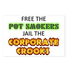 Free The Pot Smokers Jail Postcards (Package of 8)