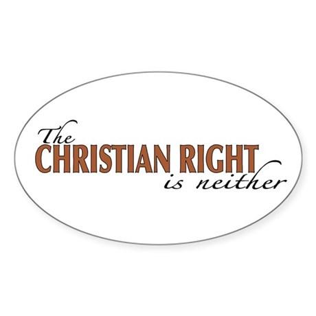 Christian Right Oval Sticker