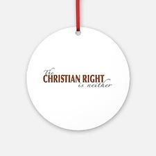 Christian Right Ornament (Round)