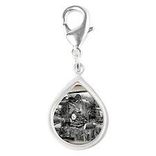 Box - 8 Silver Teardrop Charm