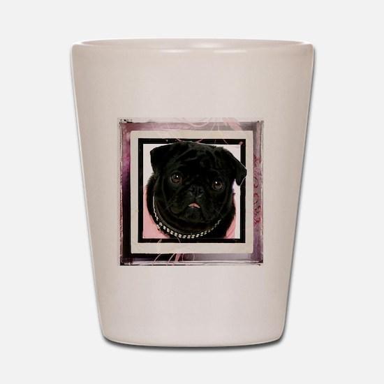 pretty in pink Shot Glass