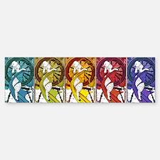 3-Sheep8in Sticker (Bumper)