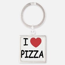 pizza01 Square Keychain