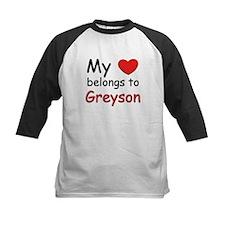 My heart belongs to greyson Tee