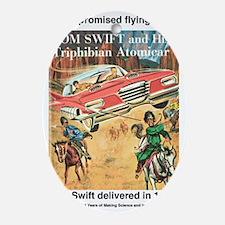 Flying Car Tom Swift Oval Ornament