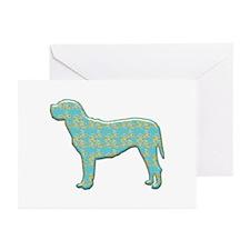 Paisley Mastiff Greeting Cards (Pk of 10)