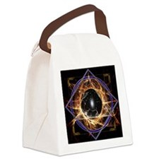 elements-fire-tile-updated Canvas Lunch Bag