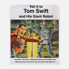 Tom Swift and his Giant Robot Throw Blanket