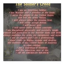 """2-Soldiers Creed Square Car Magnet 3"""" x 3"""""""