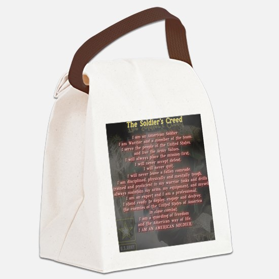 2-Soldiers Creed Canvas Lunch Bag